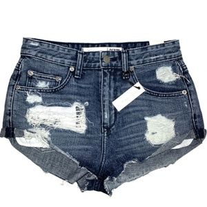 Distressed Jean Shorts Lovers + Friends High Rise